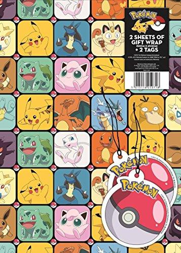 Geschenkpapier, offizielles Lizenzprodukt Pokemon