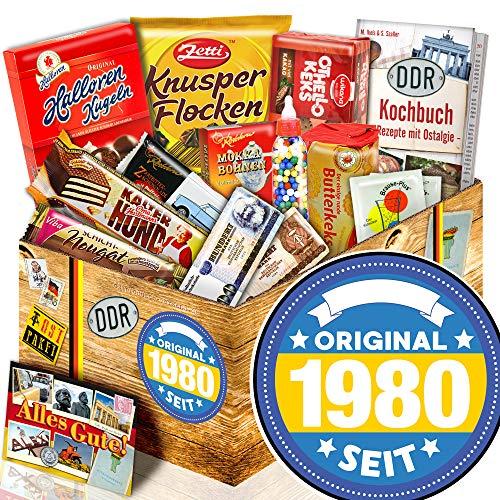Original seit 1980 - Süßigkeitenbox mit DDR Waren - 1980 Geschenk Geburtstag