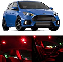 SCITOO LED Interior Lights 6 pcs Red Package Kit Accessories Replacement Fits for 2012-2014 Ford Focus