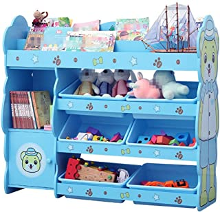 Gfdsase Durable Book And Toy Organizer For Organizing Toy Storage Baby Toys Kids Toys Dog Toys Baby Clothing Children Books Easy Care  Color Blue  Size Free size