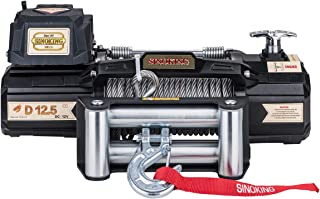 Sinoking 12VDC 12500LB/5670kg Electric Winch,Off-Road Winch with 3/8