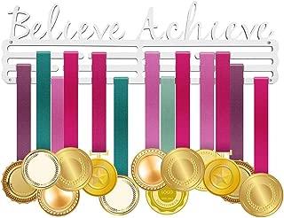 ULwysd Medal Holder, Medals Display Hanger Rack for Over 50 Medals – Brushed Stainless Steel Wall Mount Easy to Install Race Runner Medal Frame