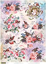 Space 11.1 x 15.11 inches Made in Russia Medieval Astronomy Rice Paper for decoupage