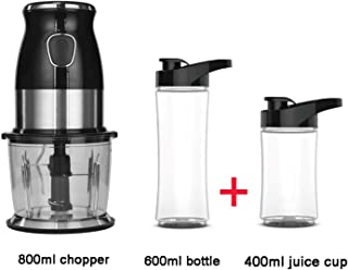 500W Portable Personal Blender Mixer Food Processor With Chopper Bowl 600ml Juicer Bottle Meat Grinder Baby Food Maker,with extra 400ml cup,EU Plug