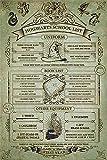 Close Up Harry Potter Poster Hogwarts School List