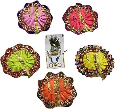 Mittal enterprisess-Pack of 5 Pcs Laddu Gopal Dress for Lord Shri Krishna, Laddu Gopal Poshak-sIze-0