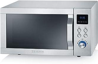 SEVERIN Micro-ondes 2-en-1, 800 W, Avec fonction gril, Gril et plaque tournante inclus (Ø 24,5cm), Fonction Be-Silent, MW ...