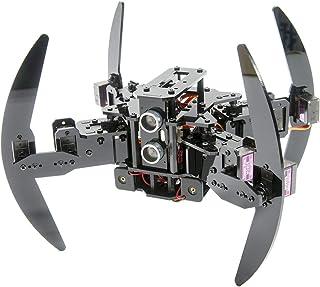 Kit de Robot Quadrupède Compatible avec la Télécommande Infrarouge Arduino et l'App Python, Robot de Marche Araignée, Stab...