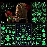 HOWAF 82Pcs Brillan en la Oscuridad Navidad Tatuajes temporales Niños Tatuaje Falso Pegatinas para...