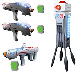 Kids Age 6+ Laser X Tag Double Set, Laser Tag Long Range Blaster & Laser Tag Interactive Gaming Tower, Laser X, Toy Blaster, Toy Guns, Outdoor Games For Boys, Outdoor Toys, Sports For Kids