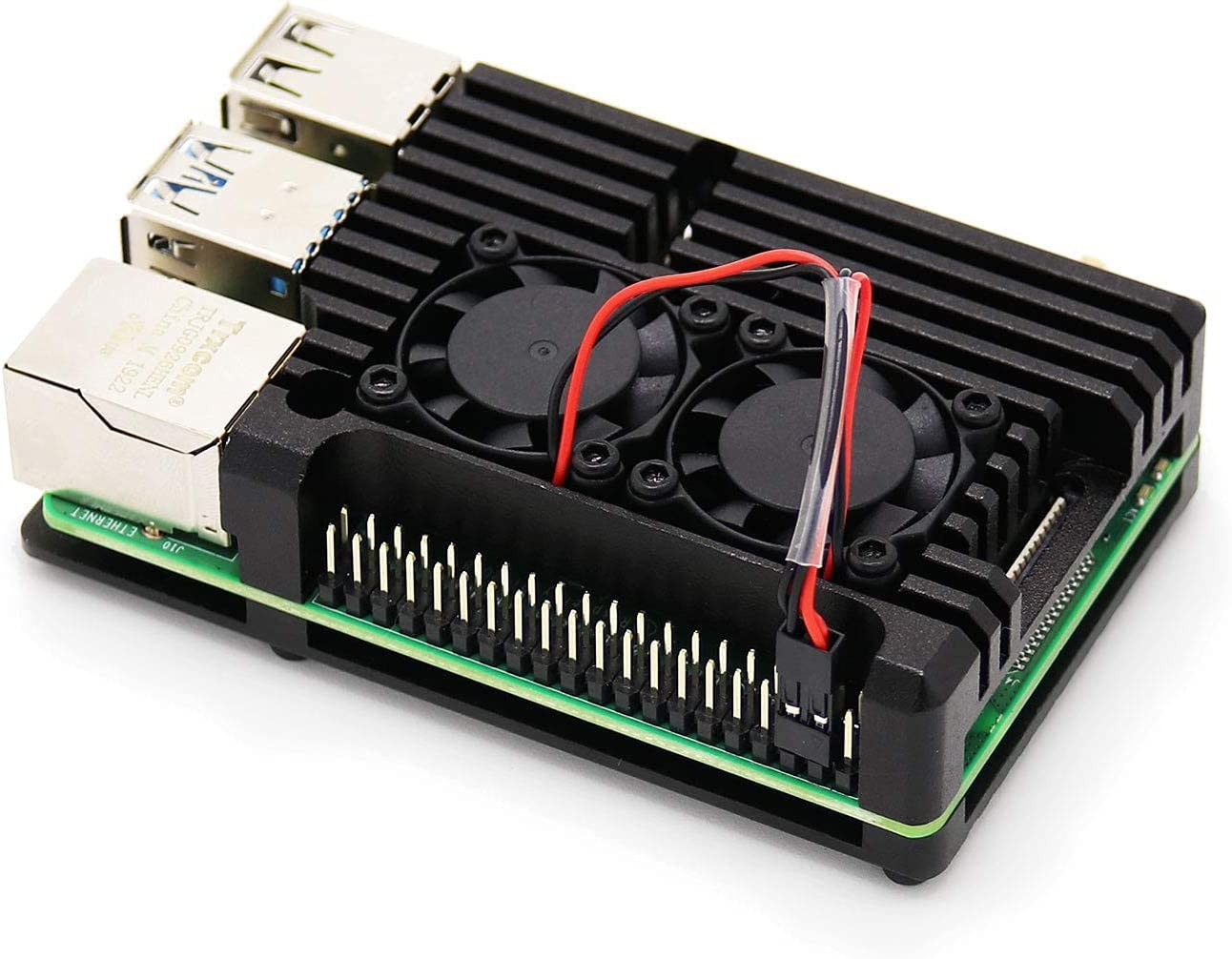 Pastall Raspberry Pi 4 5 ☆ popular Armor Case Fan Fashion Cooling Metal Dual Sh with