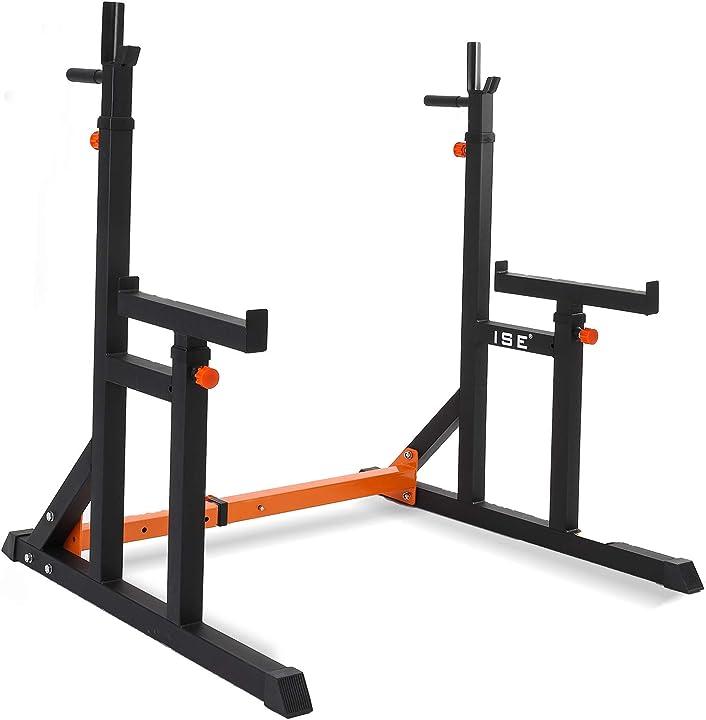 Squat rack ise multifunzione sollevamento pesi, max. 200kg, sy-rk1002 B08N125PFP