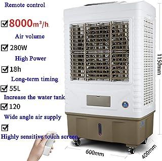 DENG&JQ Industrial Enfriador Grande Dormitorio Pequeña Aire Acondicionado, Ventilador Comercial Refrigeración Sola Móvil Refrigeración por Agua-d