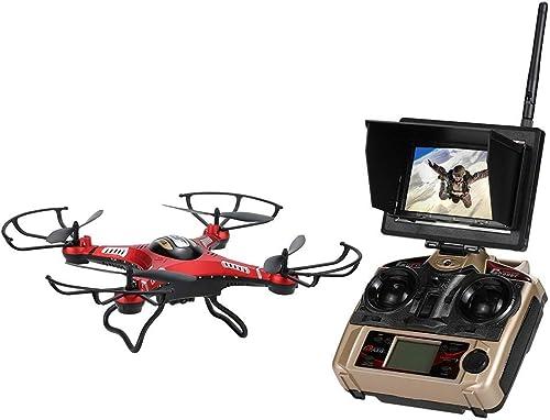 apresurado a ver ELVVT ELVVT ELVVT 2.4G 4CH 6 Ejes Gyro 5.8G FPV Quadcopter RC Drone con cámara de 2.0MP RTF Función de Modo de Altura RC Quadcopter 3D-Flip UAV Juguete cumpleaños para Niños y adultos-17.9  9.8   punto de venta