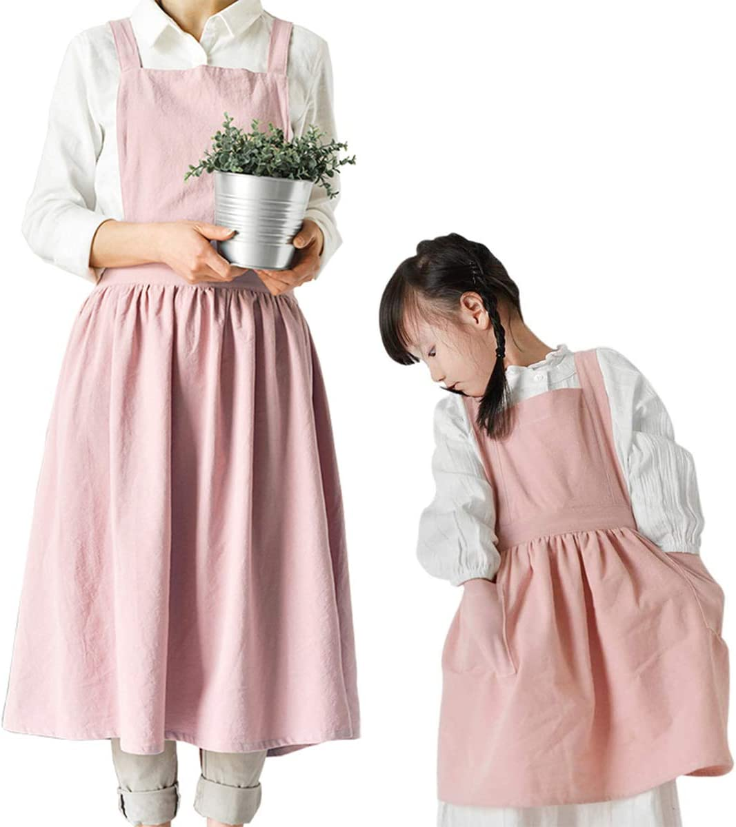 FMSBSC Apron Cotton New arrival and Linen an Recommended Parent Comfortable Child