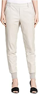 Vince Women's Leather Belted Jogger Pants