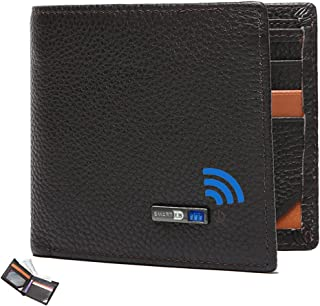 $28 » Smart Anti-Lost Bluetooth Tracker mens wallet , Position Record (Via Phone GPS), Bifold Genuine Leather Men's Wallets (Cof...