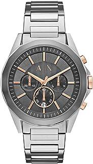 6daffe3baa3fa8 Armani Exchange Orologio Cronografo Quarzo Uomo con Cinturino in Acciaio  Inox AX2606