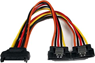CherryCsy 6in Latching SATA Power Y Splitter Cable Adapter - M/F