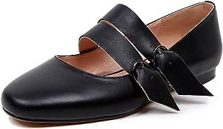 Nine Seven Women's Leather RoundToe Low Heel Flats