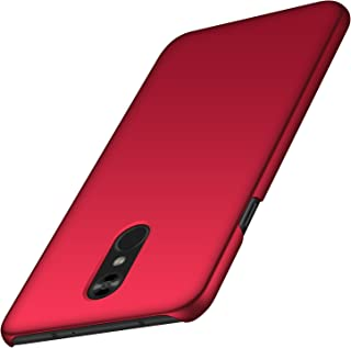 LG Stylo 4 Case, Almiao [Thin Fit] Minimalist Slim Protective Phone Case Back Cover for LG Stylo 4 (Smooth red)