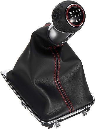 Negro JenNiFer 5 Speed Gear Shift Pomo Palanca De Cambios Cubierta del Cambio De Marchas para Ford Focus MK II 05-08