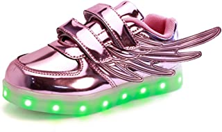 Boys Girls Light Up Shoes with Led Lights Flashing Sneakers with Wing for Kids