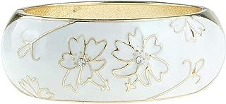 white enamel cuff bracelet