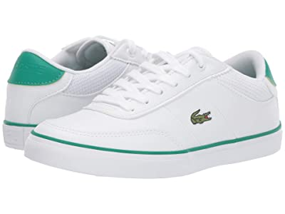 Lacoste Kids Court-Master 119 4 CUJ (Little Kid/Big Kid) (White/Green) Kid