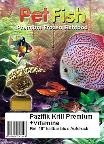 Original Pazifik Krill Premium + Vitamine 5 kg / 50 X 100g / Premium Frostfutter / Diskusfutter / Zierfischfutter / Fischfutter / Diskus / Fische / Meerwasser Futter / Meerwasserfutter