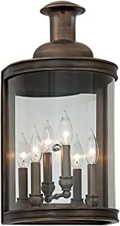 Troy Lighting B3193 Pullman - Three Light Large Wall Sconce, English Bronze Finish with Clear Glass