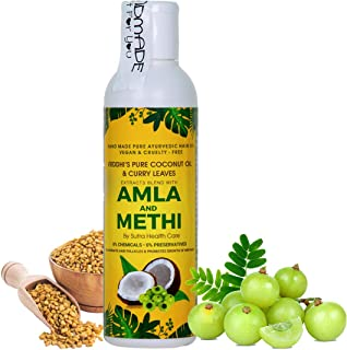 Vriddhi Organic Amla Hair Oil with Methi and Curry Leaves for Hair Growth, Reduce Hair Loss and Rejuvenate Follicles