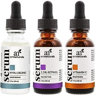 Artnaturals trio serum set - hyaluronic, retinol and vitamin C serum