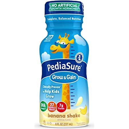 Pediasure Grow & Gain Kids' Nutritional Shake, With Protein, DHA, & Vitamins & Minerals, Banana, 8 Fl Oz, 24 Count
