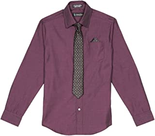 Steve Harvey Boys' Big Shirt and Tie Set