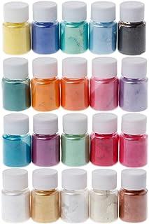 huyiko 20 Couleur Mica Naturel Poudre Minérale Epoxy Résine Colorant Perle Pigment Couleur Charge Epoxy Décoration