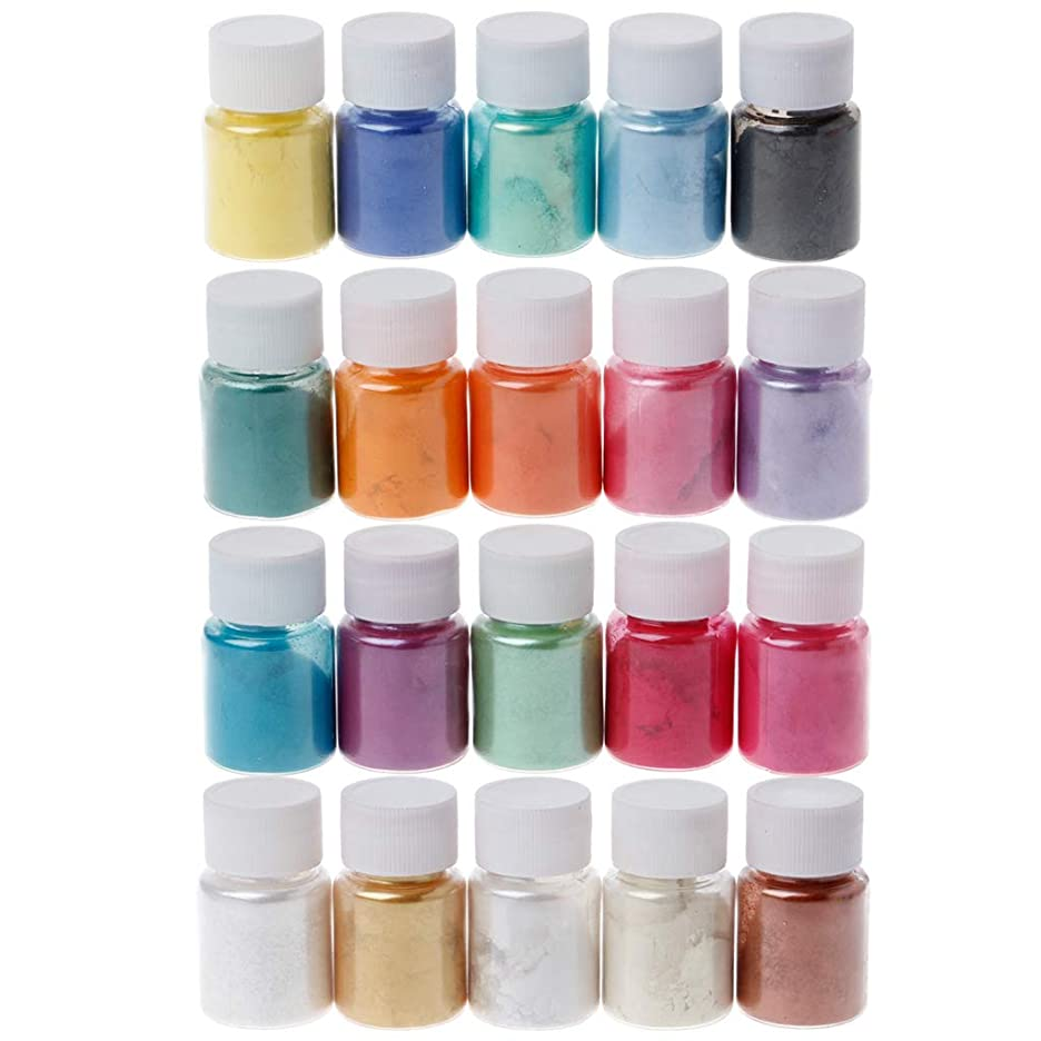 アセンブリ活発人気ジャッキーパールパウダー(最後)20色マイカパウダーエポキシ樹脂染料パール顔料天然マイカミネラルパウダー