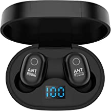 Ant Audio Wave Sports 721 Bluetooth Wireless Earphone TWS 5.0 Touch Control Earbuds with LED Charging Dock, IPX5 Waterproo...