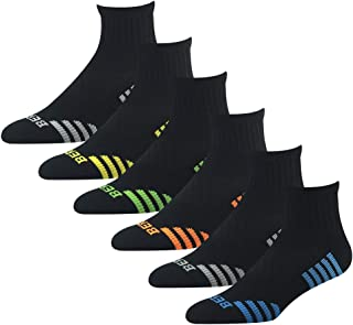 BERING Men's Quarter Athletic Compression Socks (6 Pack)