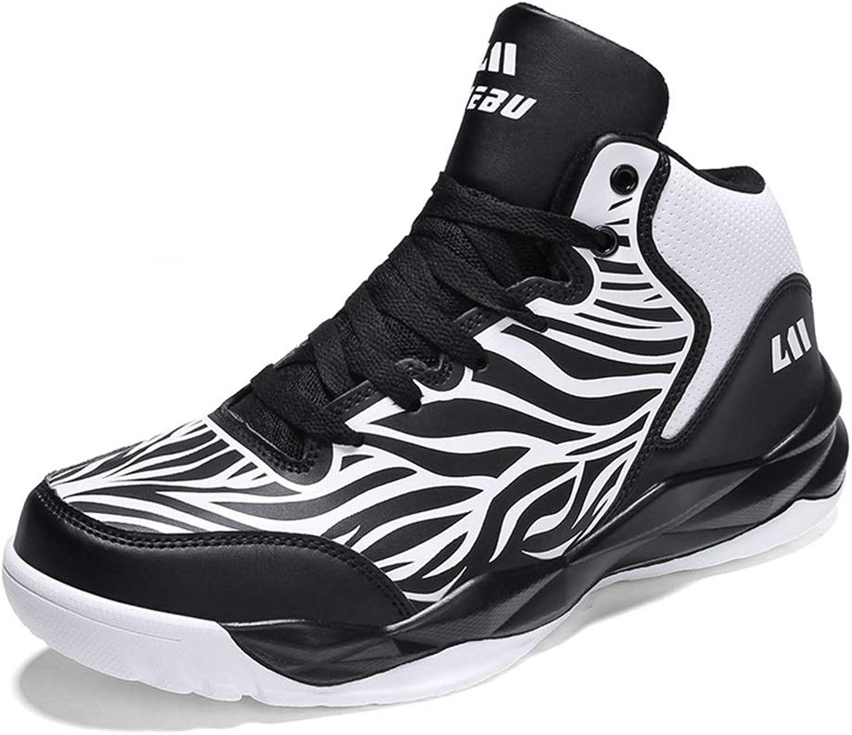 Unisex Unisex Unisex Casual skor Fall och Winter High -top skor Sports skor Män Kvinnor Icke -Slip Shock Absorberande Basketball skor Par utomhus springaning skor YAN (Färg  B, Storlek  43)  spara 50% -75% rabatt