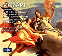 Symphonien 39-41 by WOLFGANG AMADEUS MOZART (1984-08-28)