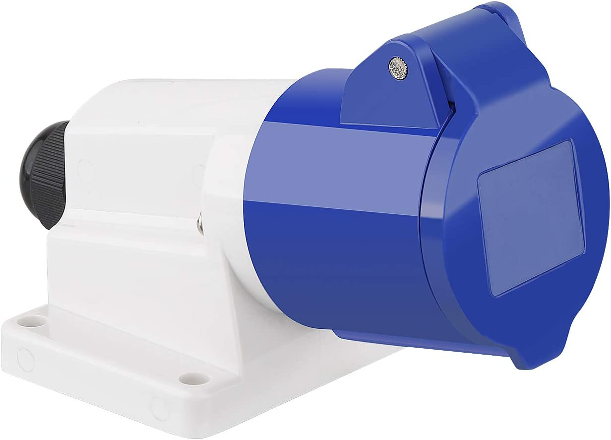 M Ega Megacube Cee Wandsteckdose 3 Polig 16a 230v Ip44 Geeignet Für Baustellen Blau Baumarkt