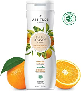ATTITUDE Super Leaves, Hypoallergenic Energizing Body Wash, Orange Leaves, 16 Fluid Ounce