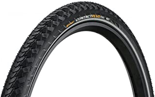 """Continental Contact Plus Bike Tire - Replacement City/Trekking, Extra E-Bike Rated Puncture Protection Bike Tire (24"""", 26""""..."""