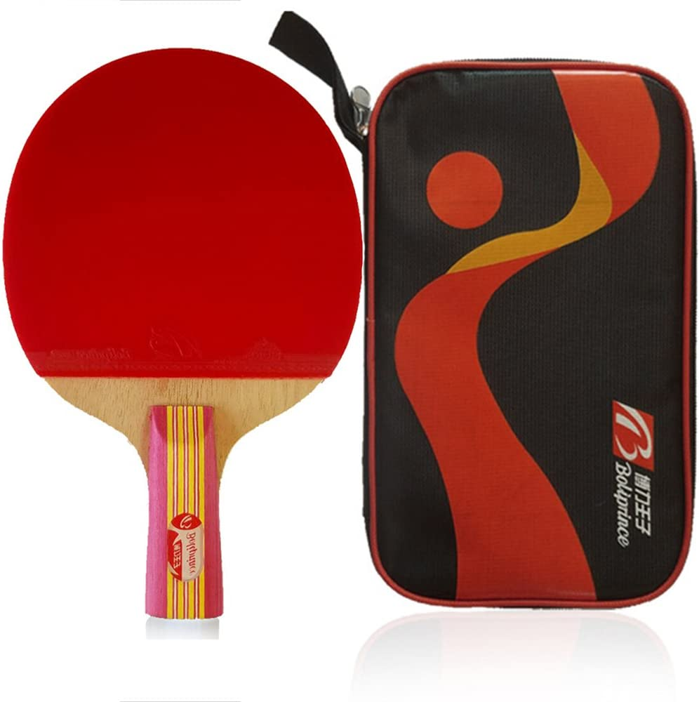 Japan's largest assortment Boliprince Max 78% OFF Pink Five Plies Table Racket Paddle Pong Ping Tennis