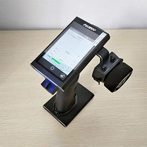 Erduo Flysky FS-Nb4 4CH Funkfernbedienungssender mit ZWeißGrößEmpfängern für RC-Car-Stiefele mit Abnehmbarer Touchscreen-Basis - Schwarz
