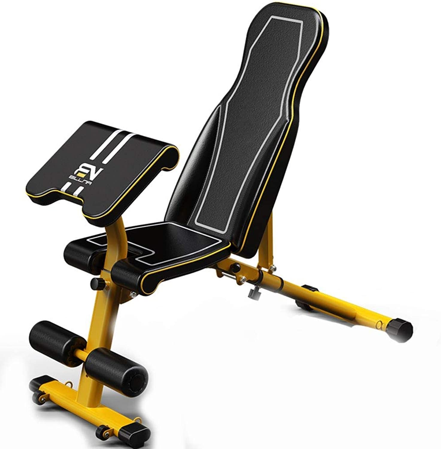 Strength Training Equipment Abdominal Training Stool Situp Dumbbell Bench Sports Chair Home Leisure Chair Fitness Bench Press Outdoor Sports Equipment (color   Yellow, Size   125cm39cm)