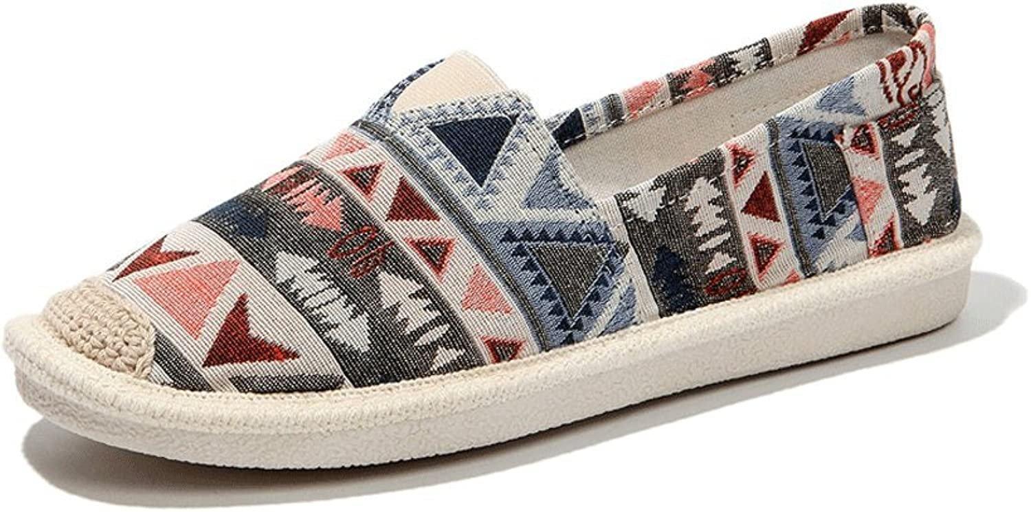 Ladies breathable canvas shoes outdoor casual board shoes fashion flat shoes ( color   Multi-colord , Size   37 )