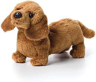 DEMDACO Light Brown Dachshund Children's Plush Beanbag Stuffed Animal Toy