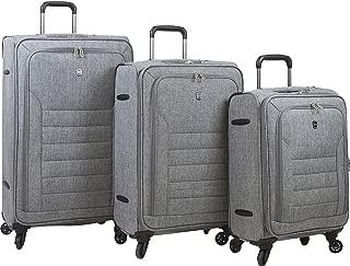 Dejuno Noir Lightweight 3-Piece Spinner Luggage Set with Laptop Pocket